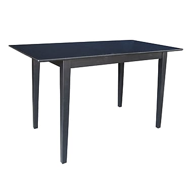 International Concepts 36in. X 32in. X 60in. Rectangle Table W/Butterfly & Shaker Legs, Black