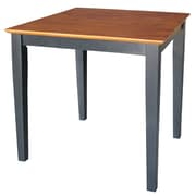 "International Concepts 30"" x 30"" x 30"" Square Solid Wood Table W/Shaker Legs, Black/Cherry"