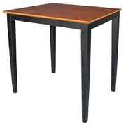 International Concepts 36 x 30 x 30 Square Solid Wood Table W/Shaker Legs, Black/Cherry