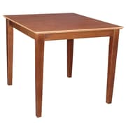 International Concepts 30 x 30 x 30 Square Solid Wood Table W/Shaker Legs, Cinnemon/Espresso