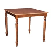 International Concepts 30 x 30 x 30 Square Solid Wood Table W/Turned Legs, Cinnemon/Espresso
