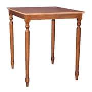 International Concepts 36 x 30 x 30 Square Solid Wood Table W/Turned Legs, Cinnemon/Espresso