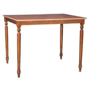International Concepts 36 x 48 x 30 Rectangle Solid Wood Table W/Turned Legs, Cinnemon/Espresso