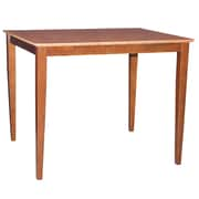 International Concepts 36 x 48 x 30 Rectangle Solid Wood Table W/Shaker Legs, Cinnemon/Espresso