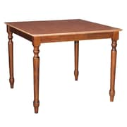International Concepts 30 x 36 x 36 Square Solid Wood Table W/Turned Legs, Cinnemon/Espresso