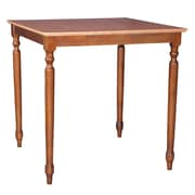 International Concepts 36 x 36 x 36 Square Solid Wood Table W/Turned Legs, Cinnemon/Espresso
