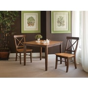 International Concepts 30 Solid Wood Dining Table Set, Cinnamon/Espresso