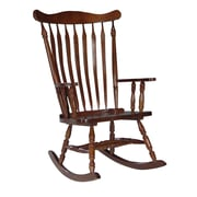 International Concepts Solid Wood Rocker With Wave Back, Cherry