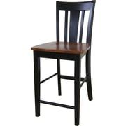 International Concepts 24 Solid Wood San Remo Counterheight Stool, Black/Cherry