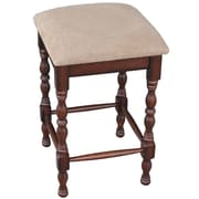 International Concepts Solid Wood Tavern Stool, Chestnut
