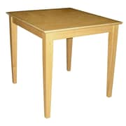 "International Concepts 29"" x 30"" x 30"" Square Solid Wood Table W/Shaker Legs, Natural"