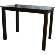 International Concepts 30 x 30 x 48 Rectangle Wood Counterheight Table, Rich Mocha