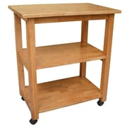 International Concepts Wood Microwave Cart, Medium Oak/Natural