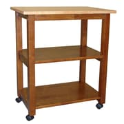International Concepts Wood Microwave Cart, Cinnamon/Espresso/Natural