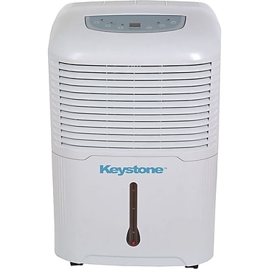 Keystone® KSTAD70A 70 Pint Electric Dehumidifier, White