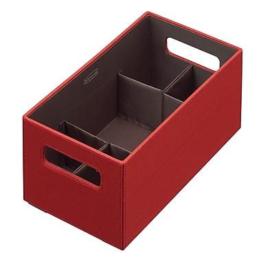 Rubbermaid® Medium Bento Storage Box With Flex Dividers, Paprika