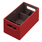 Rubbermaid® Medium Bento Storage Box With Flex Dividers, Paprika