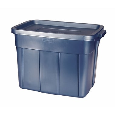Rubbermaid® 18 gal Roughneck Storage Box, Dark Indigo Metallic