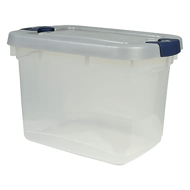 Rubbermaid® 19 qt Roughneck Storage Box, Clear