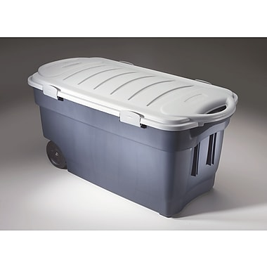 Rubbermaid® 45 gal Roughneck Jumbo Box, Dark Indigo Metallic