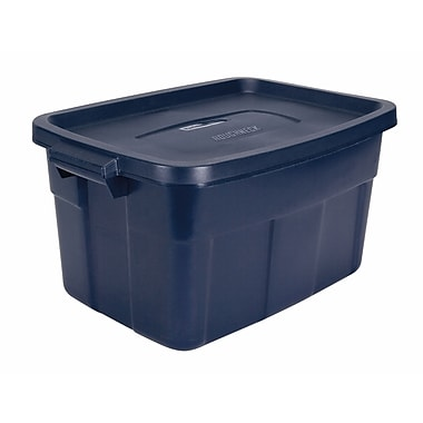 Rubbermaid® 14 gal Roughneck Storage Box, Dark Indigo Metallic