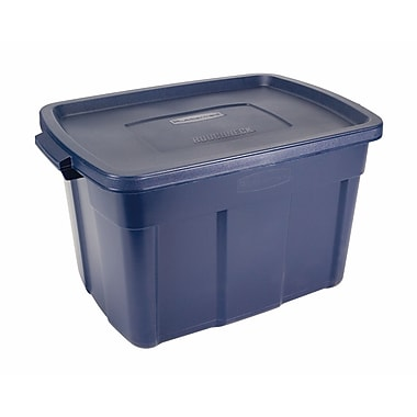 Rubbermaid® 25 gal Roughneck Storage Box, Dark Indigo Metallic