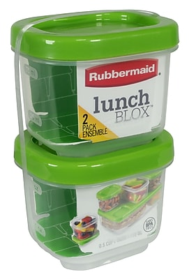 Rubbermaid 5 Cup 2 Pack Snack Container Guacamole