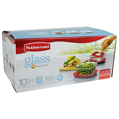 Rubbermaid® 10-Piece Glass Storage Set
