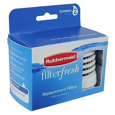 Rubbermaid® Filtration Bottle Filter Refill, White