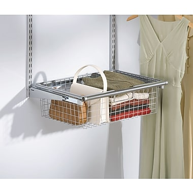 Rubbermaid Sliding Closet Basket, White