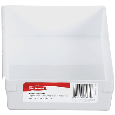 Rubbermaid® 2in. x 6in. x 9in. Plastic Drawer Organizer, White