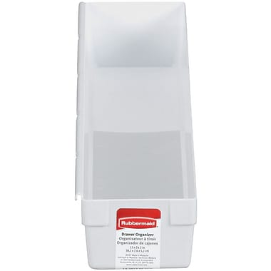 Rubbermaid® 2in. x 3in. x 15in. Plastic Drawer Organizer, White