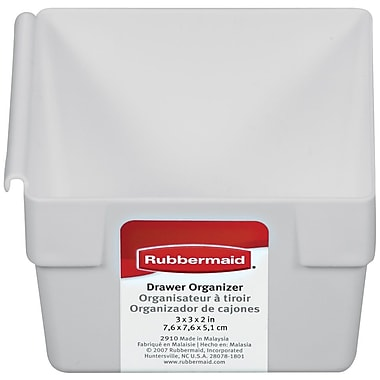 Rubbermaid® 2in. x 3in. x 3in. Plastic Drawer Organizer, White