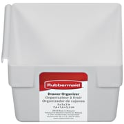 "Rubbermaid® 2"" x 3"" x 3"" Plastic Drawer Organizer, White"
