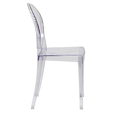 Flash Furniture Ghost Side Plastic Reception Chair, Clear (FH111APCCLR)