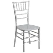 Flash Furniture Flash Elegance Resin Stacking Chiavari Chair, Silver, 10/Pack