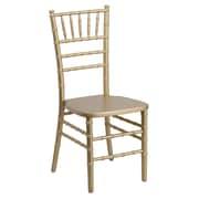 Flash Furniture Flash Elegance Supreme Wood Chiavari Chair, Gold, 10/Pack