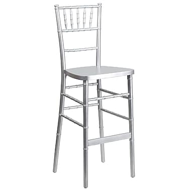 Flash Furniture Flash Elegance Wood Chiavari Bar Stool, Silver