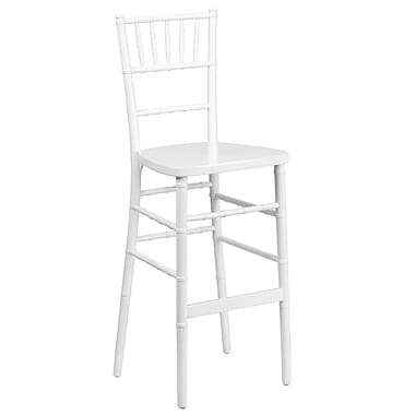 Flash Furniture Flash Elegance Wood Chiavari Bar Stool, White, 2/Pack