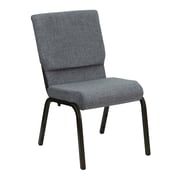 Flash Furniture HERCULES Series 18.5'' Wide Stacking Church Chair with 4.25'' Thick Seat - Gold Vein Frame, Gray