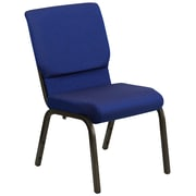 Flash Furniture HERCULES Series 18.5''W Church Stack Chair with 4.25'' Thick Seat - Gold Vein Frame, Blue Pattern, 20/Pack