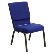 Flash Furniture HERCULES Series 18.5'' Wide Stacking Church Chair with 4.25'' Thick Seat - Gold Vein Frame, Navy Blue, 20/Pack