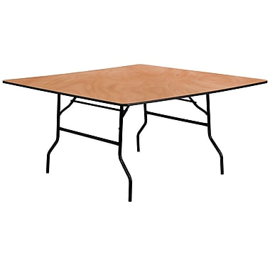 Flash Furniture 60'' Square Wood Folding Banquet Table, Plywood