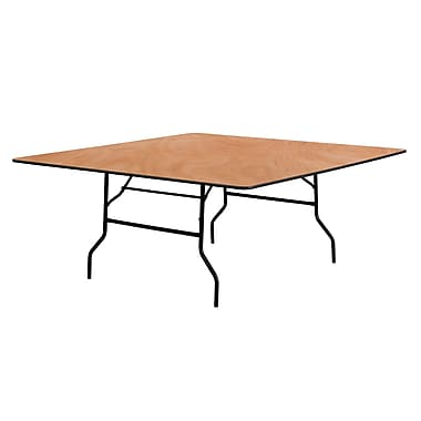 Flash Furniture 72'' Square Wood Folding Banquet Table, Black/Natural