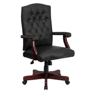 Flash Furniture Martha Washington Leather Executive Swivel Chair, Black