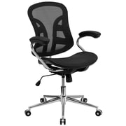 Flash Furniture Mid-Back Mesh Computer Chair, Fixed Arms, Black