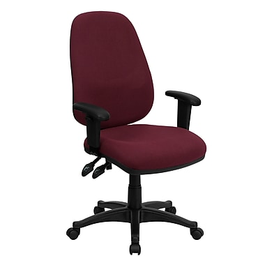 Flash Furniture High Back Fabric Ergonomic Computer Chair With Height Adjustable Arms, Burgundy