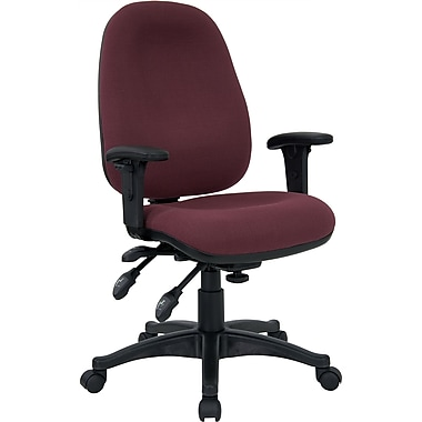 Flash Furniture Mid-Back Fabric Task Chair, Adjustable Arms, Burgundy