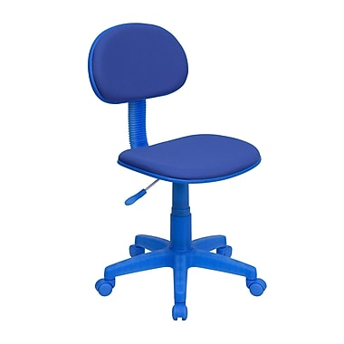 Flash Furniture 31in. - 35 3/4in. Fabric Ergonomic Task Chair, Blue