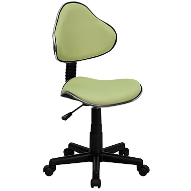Flash Furniture Fabric Ergonomic Task Chair With Chrome Metal Band Accent, Avocado